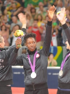Megan Hodge gets Silver Medal at 2012 Summer Olympics